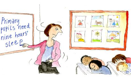 Ros Asquith, Lines cartoon, Sleepy time