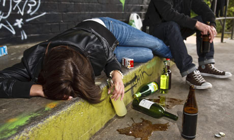 Drunk students pass out from alcohol