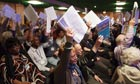 Delegates to the National Union of Teachers' annual conference in Torquay vote on a motion