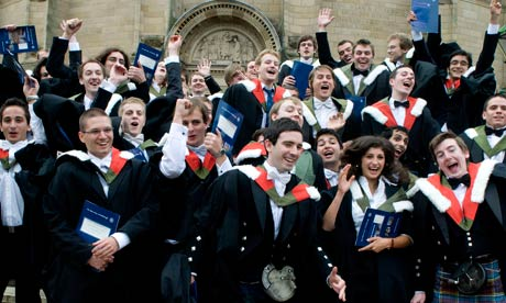 New graduates at Edinburgh University after graduating from a course in artificial intelligence