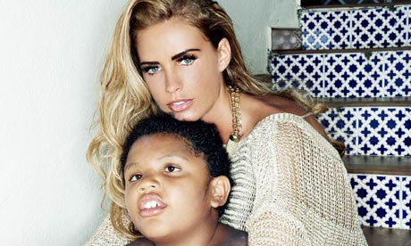 Katie Price with her son Harvey
