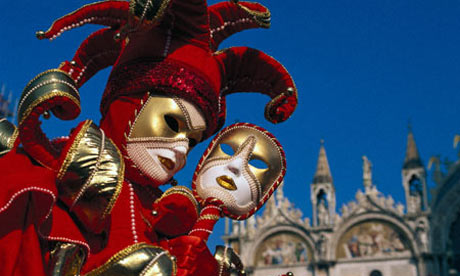 Make a carnival mask inspired by the Venice carnival