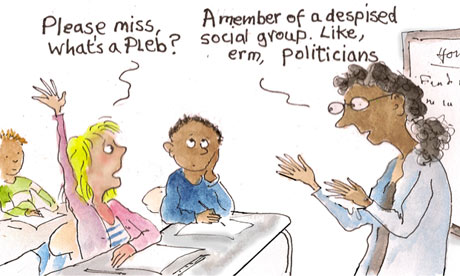 Teaching children the difference between plebs and politicians