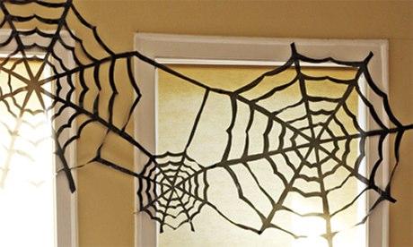 bin bag cobweb decorations halloween