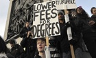 Students demonstrate against higher tuition fees and cuts in university funding
