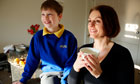 Jake Herring and his mum, Joanna McDonnell, at home in Didsbury, Manchester