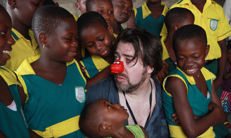 Jonathan Ross visits a Comic Relief-funded school in the Agbogbloshie slum in Accra, Ghana
