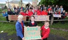 Parents and children in Lapford, Devon, are angry at plans to move year 6 children to another school