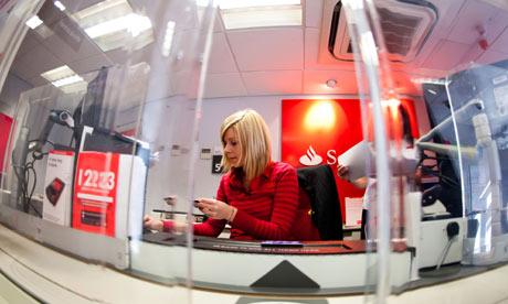 Bank teller Santander