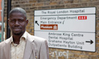 Morro Tunkara, who works as a cleaner in a London hospital: