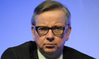 Michael Gove answers questions during the National Association of Head Teachers' annual conference