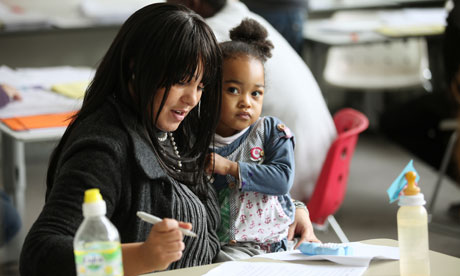 Mother and child at the Centre of Lifelong Learning in London