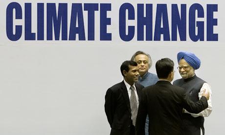 COP15 climate change conference :Sha Zukang, Manmohan Singh, Mohamed Nasheed, Jairam Ramesh