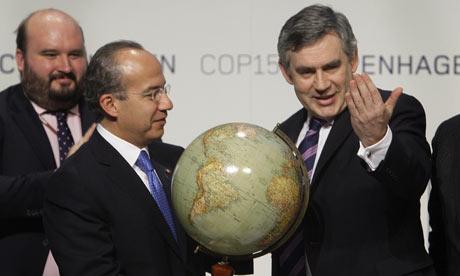 COP15 Prime Minister Gordon Brown Mexican President Felipe Calderon
