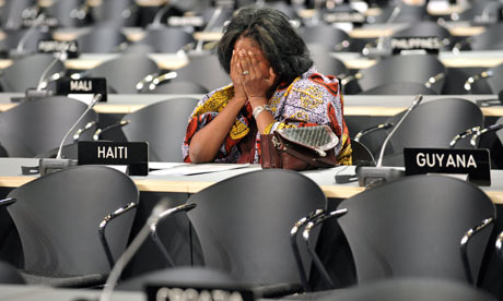 COP15: A Haitian delegation during second-day session at the Bella center in Copenhagen