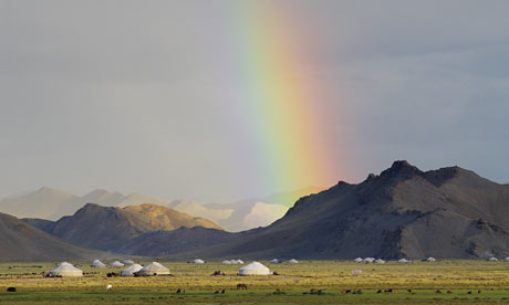 100 places : Yurt camp in Bayan Olgii province. Mongolia.