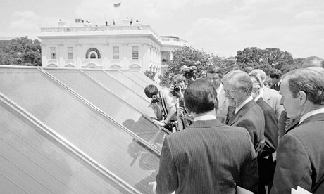 Jimmy Carterinspected new White House solar hot water heating system