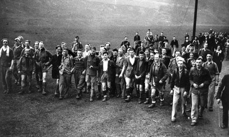 Hayfield mass trespass on Kinder Scout mountain