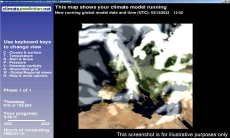 Climate prediction : The weatherathome.net project