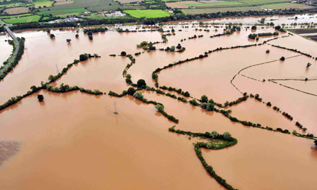 Floods : An aerial view of