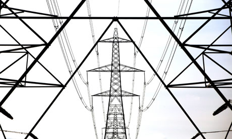 A line of electricity pylons crosses the Essex countryside