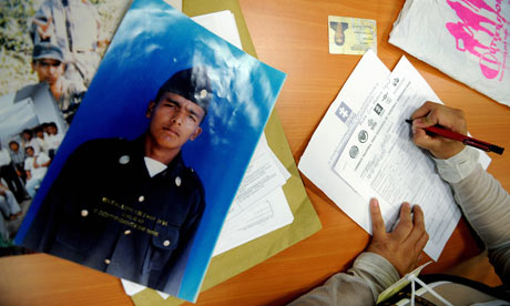 MDG : disappeared person in Colombia