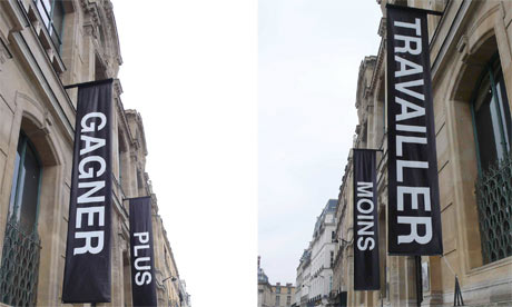the installation outside the Beaux Arts building by Chinese artist Ko Siu Lan in Paris