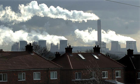 Air pollution from industry in the EU costs the UK up to €18bn a year, says the European environment agency. Photograph: John Giles/PA