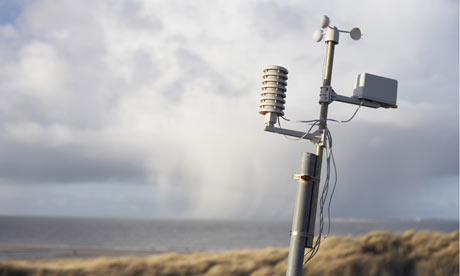 hacked climate science emails : A remote weather station on the coatline