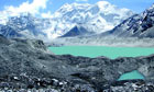 Glacier melting : Lake Imja Tsho in a valley situated south of Mount Everest in Nepal.