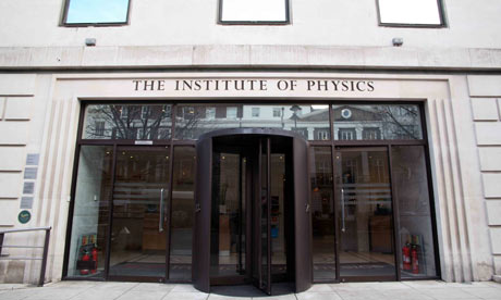 The Institute of Physics, London. This week the body was forced to clarify its submission to the parliamentary climate emails inquiry. Photograph: Rex Features / Jeff Blackler