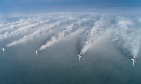 Wind energy : wind turbines of Horns Rev windfarm
