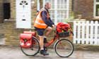 Bike blog: Postman cycling Twickenham, London, Britain - 14 Oct 2009