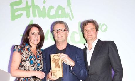 Observer Ethical Awards Ceremony : winner Life Time award Gordon Roddick
