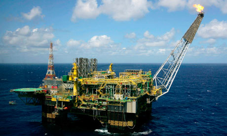 Petrobras P-52 Oil Platform At Campos Basin, Brazil