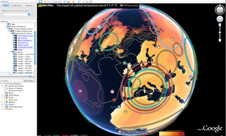 A new interactive Google Earth map showing the impacts of a 4°C world