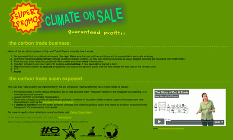European Climate Exchange (ECX) hacked and replaced by anti-carbon spoof page
