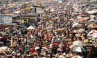 Food and overpopulation : Crowded Oshodi Market in Nigeria