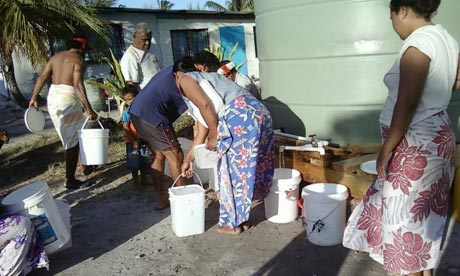 MDG : Water shortage in Tuvalu