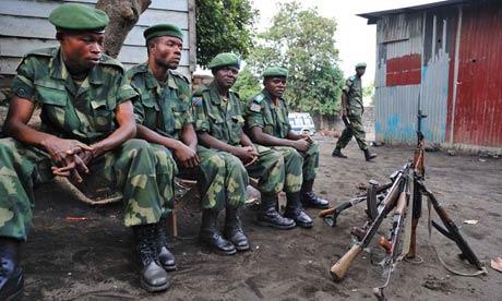 MDG : DRC : Soldiers from the FARDC (Forces Armees de la Republique Democratique du Congo) in Goma