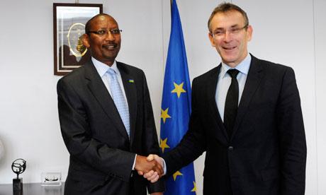 MDG : EU meeting on aid : Andris Piebalgs received John Rwangombwa