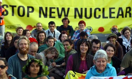 Protestors Blockade Hinkley Point Nuclear Power Station