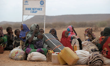 MDG : Somali refugees in Dolo Ado refugee camp in southern Ethiopia