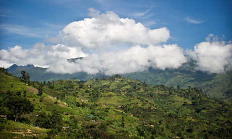 Road to Durban : Lukonzo village in Rwenzori mountains where farmers produces coffee, Uganda