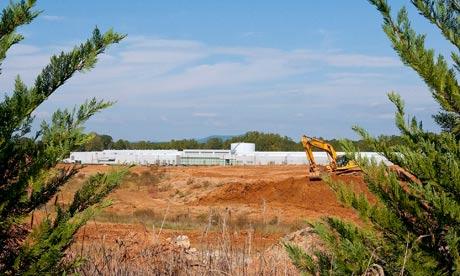 Apple Inc. data center site in Maiden, North Carolina, US