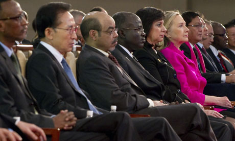 MDG : Hillary Rodham Clinton, Lee Myung-bak at  High Level Forum on Aid Effectiveness in Busan