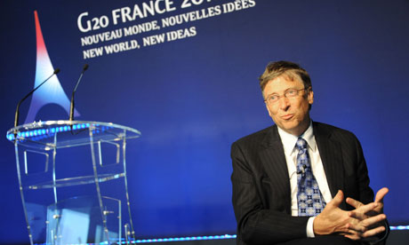 MDG : Bill gates speaking at G20 in Cannes