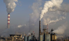 Pollution due to carbon emissions due to rise says IEA :  Coal power plant, Shanxi, China