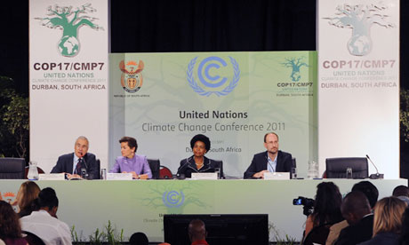 Cop17 in Durban : Lord Nicholas Stern, Christiana Figueres, Maite Nkoana-Mashabane, John Hay