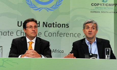 COP17 in Durban : UNEP Executive Director Achim Steiner  and Chris Huhne